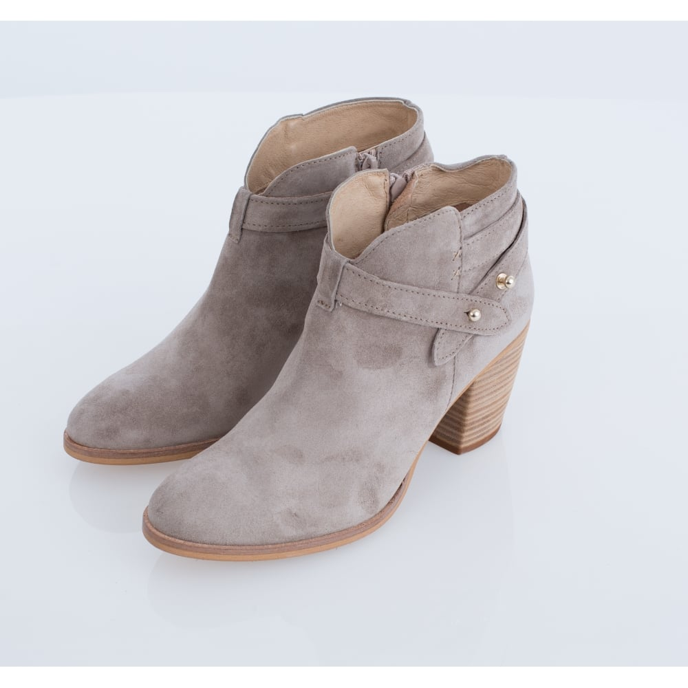 ALPE Classic Stud Strappy Ankle Boot In Light Taupe