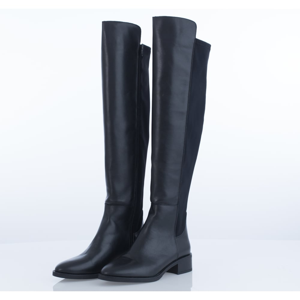 Alpe 3001 Leather Over The Knee Flat Boot In Black 6269fe733
