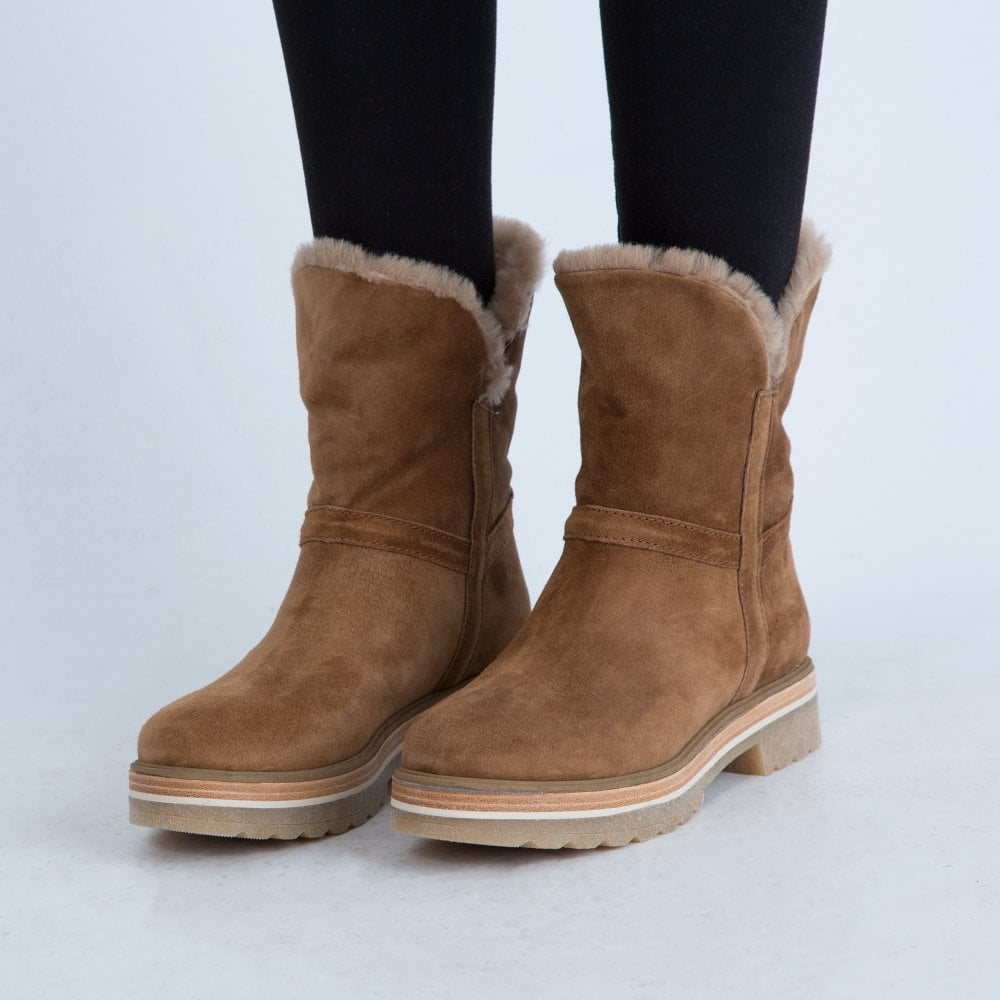 Alpe Pull On Suede Fur Lined Slouchy