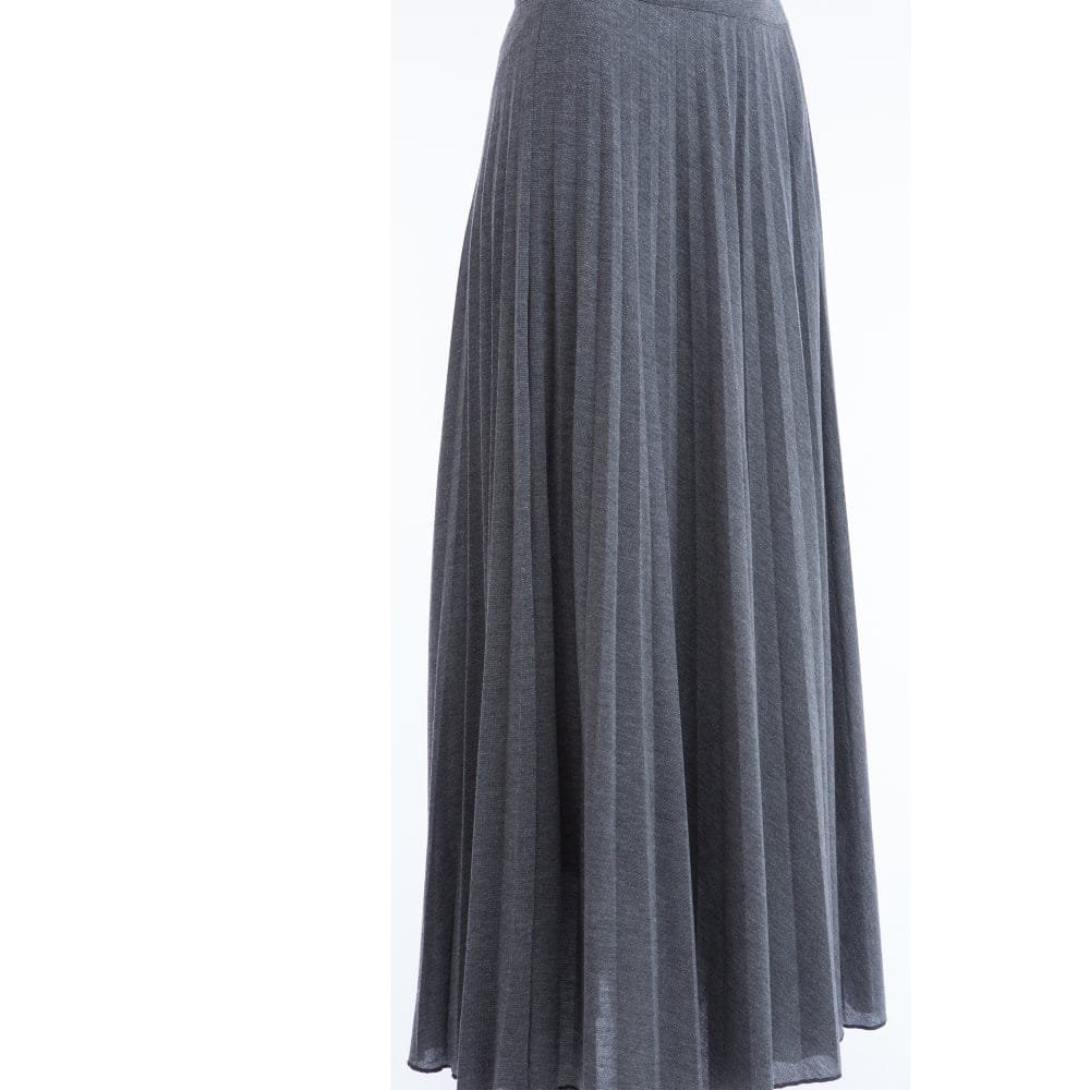 Grey Pleated Skirt