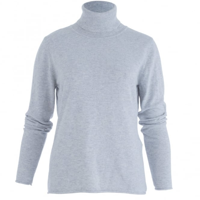 BACKSTAGE Doreen Fitted Roll Neck In Light Grey