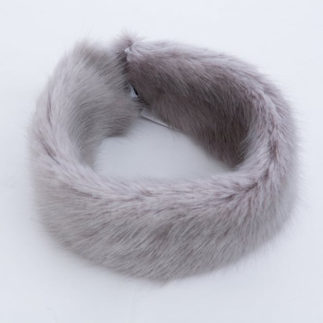 BANDITS Faux Fur Headband in Grey