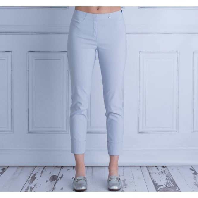ROBELL Bella 09 With Turn Up Pull On Pant In Light Silver 51568 5499