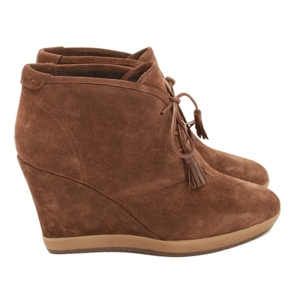 242dc9a5fbdca Bruno Premi Suede Wedge boot With Tassle in Brown