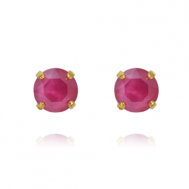 Classic Stud Earring In Pink
