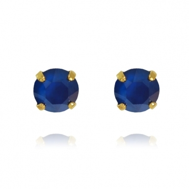 Classic Stud Earring In Royal Blue