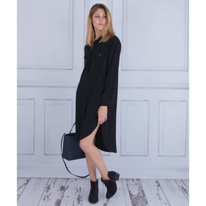 CREA CONCEPT Shirt Dress With Side Split In Black