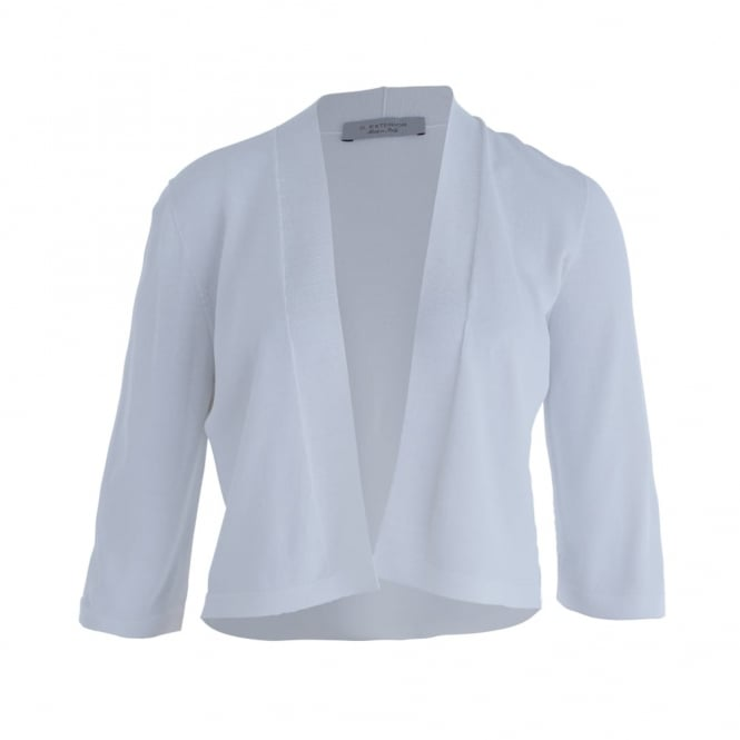 D.EXTERIOR 3/4 Sleeve Cardigan In White