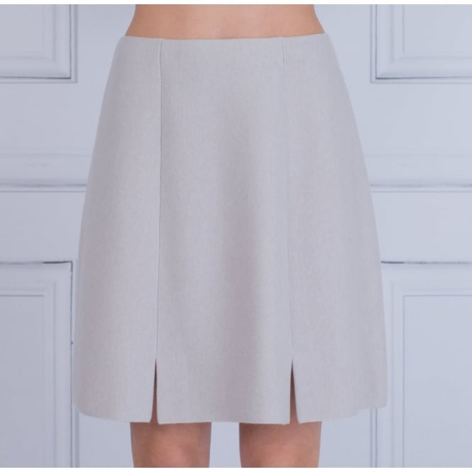 D.EXTERIOR A Line Cashmere Skirt In Oyster