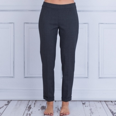 Cropped Narrow Tailored Pant In Grey