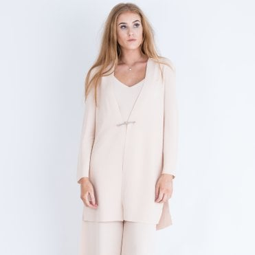 65f0aa14214 DExterior Long Knitted Jacket Nude