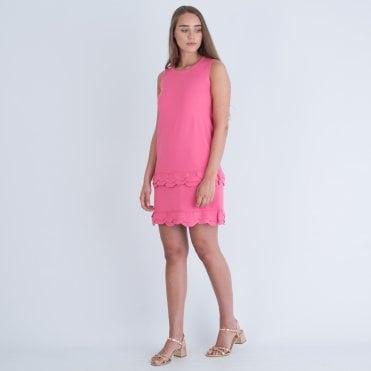 d57bc08ef3 D exterior Pink Sleeveless Scallop Hem Dress
