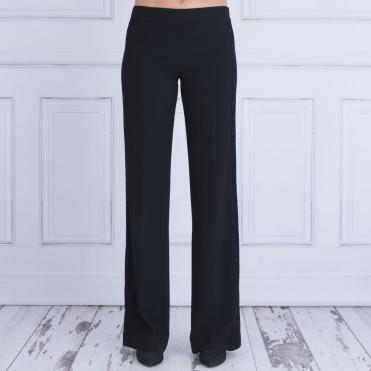 20c8dd47501 Dexterior Wide Leg Trouser With Sequin Side Panel Black