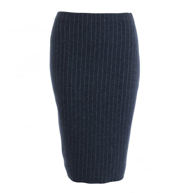 D.EXTERIOR Pinstripe Pencil Skirt In Grey