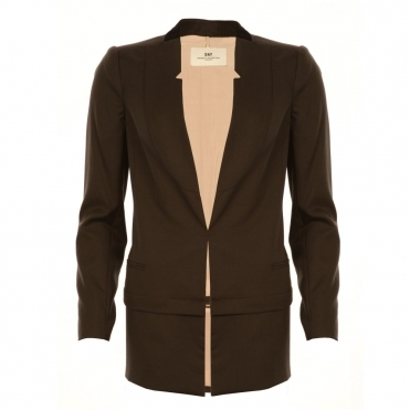 E to E Jacket With Pleat Hem in Black