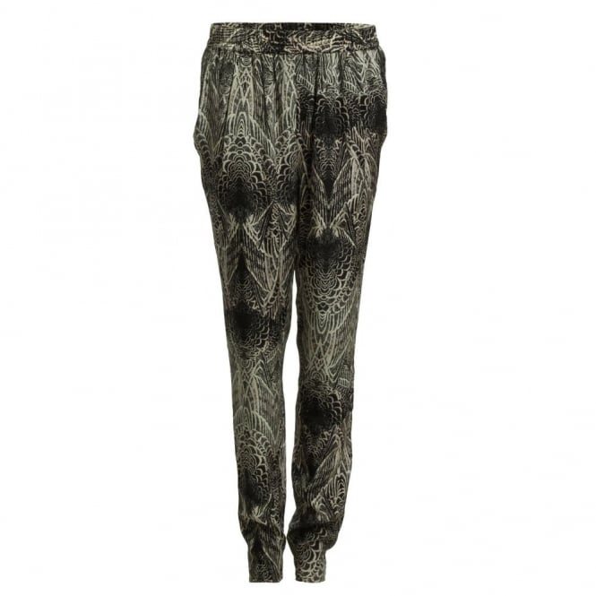 DAY BIRGER ET MIKKELSEN Pinion Feather Print Trouser in Grey