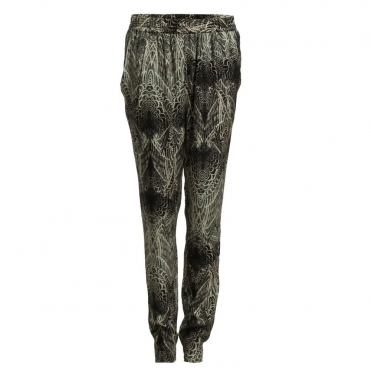 Pinion Feather Print Trouser in Grey