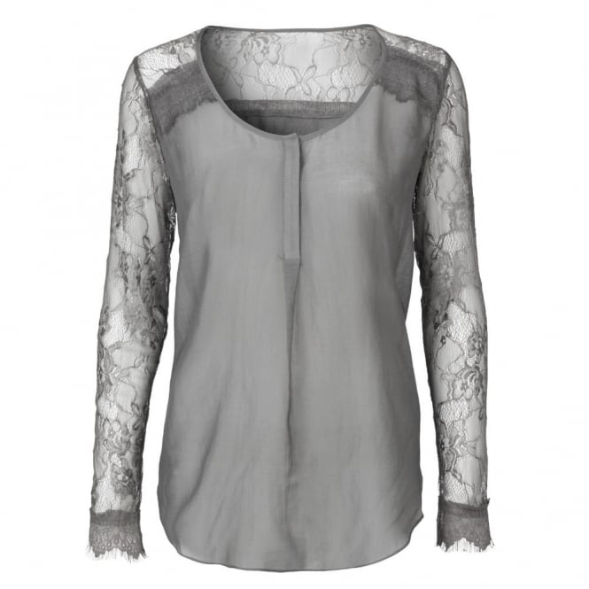 DAY BIRGER ET MIKKELSEN Vidar Fine Cotton Blouse in Grey