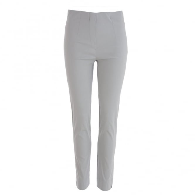 DECOLLAGE Narrow Leg Long trousers in Pearl Grey