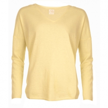 Cashmere Loose Knit in Lemon