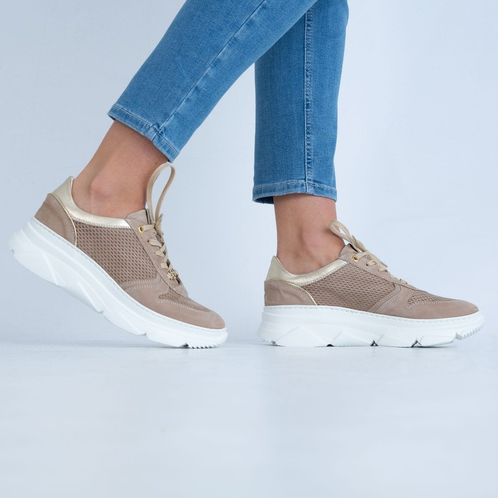 Dl Sport Trainer With Thick Sole Taupe