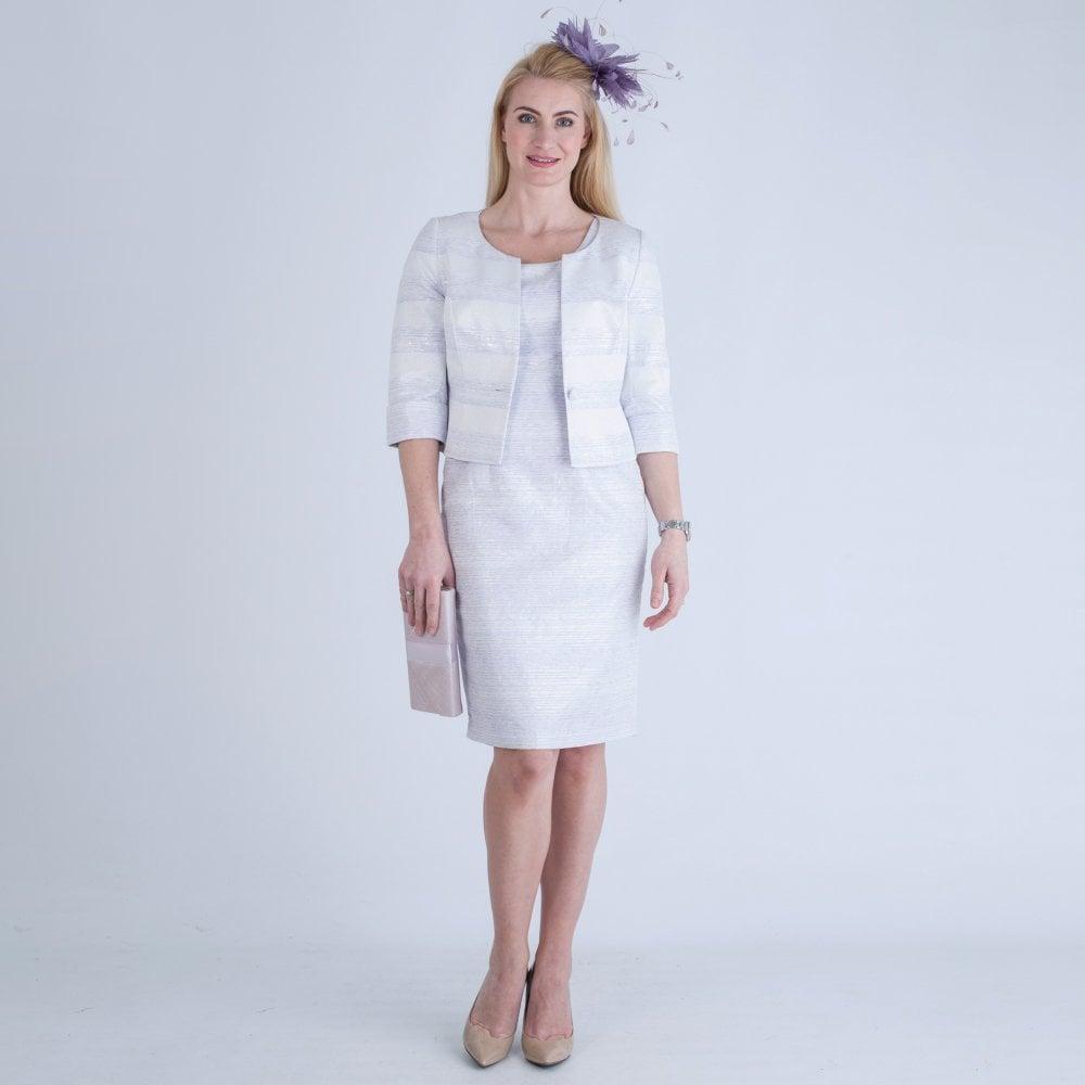 f2db6832dfa Dress Code By Veromia Cross Back Dress with Jacket Lilac Silver