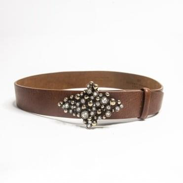 Classic Leather Belt In Tan