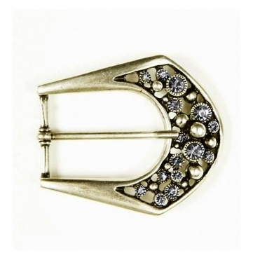 Large Jewelled Buckle In Gold