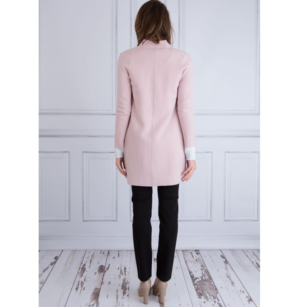 0530a1cc5 FFC Long Wool Relaxed Collar Jacket in Baby Pink