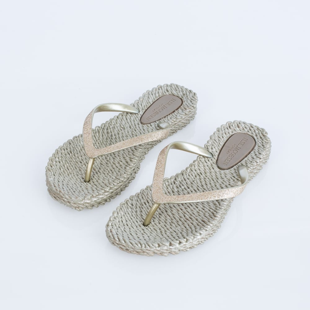 huge selection of e2a39 f6c7b ILSE JACOBSEN Glitter Flip Flop In Champagne