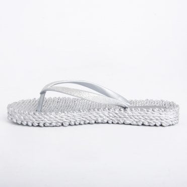 bf9860f4ca76 Ilse Jacobsen Glitter Flip Flop Silver