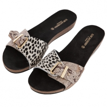 85803ff720c0 Thick Strap Buckle Sandals in Pony Hair   Snake Print
