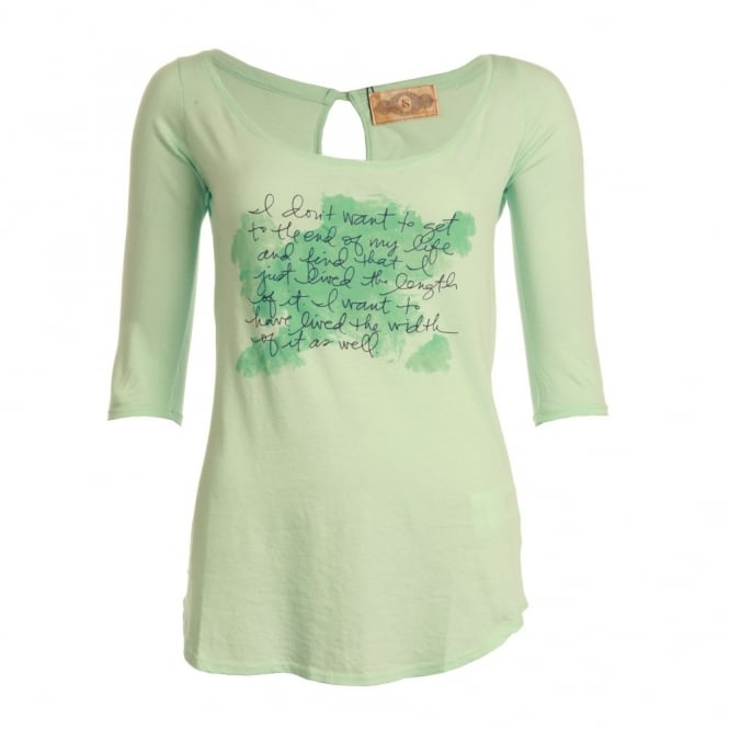 J S HERITAGE T-shirt With Scoop Neck in Mint