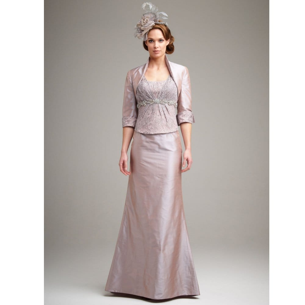 acdd5e633d John Charles Skirt with Bodice and Lace Jacket Pink