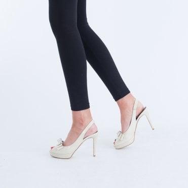 72a5450f1f1c K S Sling Back Peep Toe Shoe With Bow Nude
