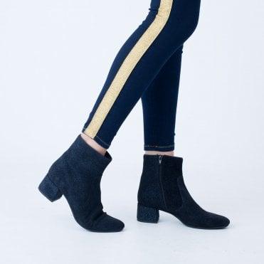6911dad47fdf Kanna Bloc Heel Sparkle Ankle Boot Navy
