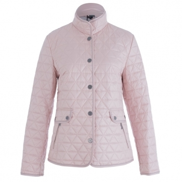 Quilted Jacket With Popper Fastening In Pale Pink