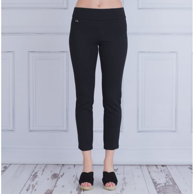 LISETTE Fit To Flatter Waffle Textured Ankle Trouser In Black