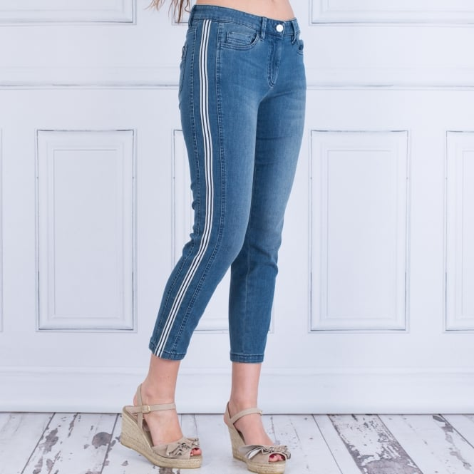 LUISA CERANO Jean With Side Stripe