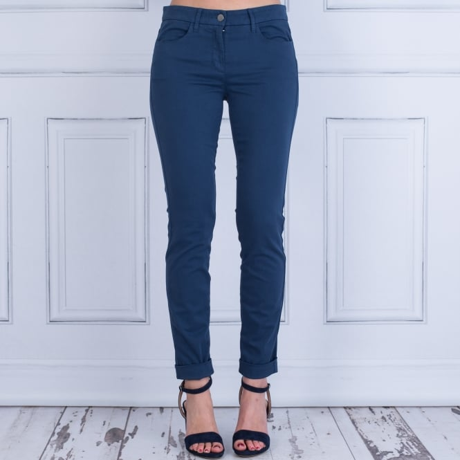 LUISA CERANO S18 Supersoft Chino With Turn Up French Navy