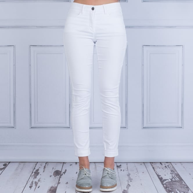 LUISA CERANO Supersoft Chino With Turn Up White