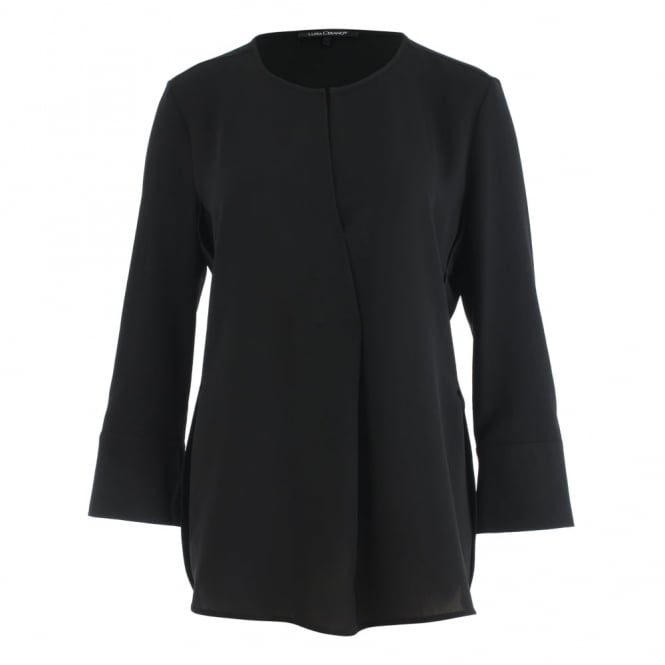 LUISA CERANO V Neck A Shaped Blouse In Black
