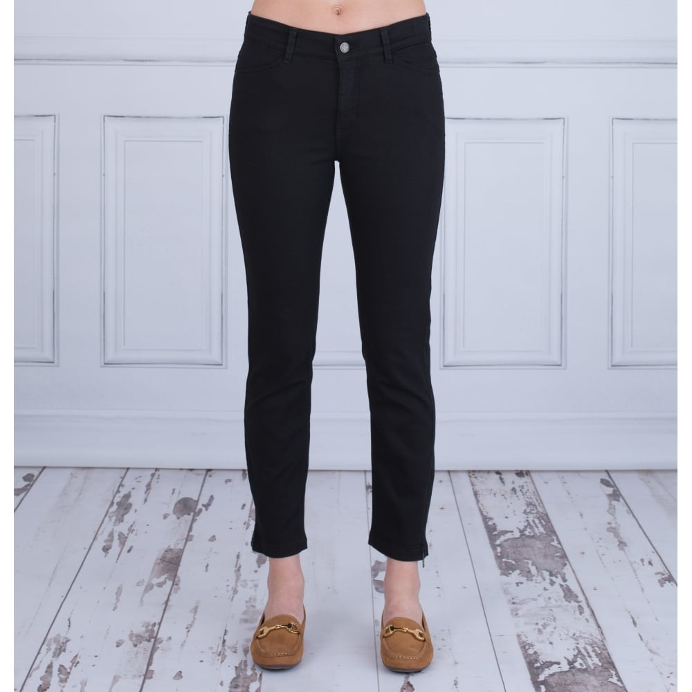 Factory Outlets wie man kauft letzte Auswahl MAC JEANS Cropped Dream Summer Chic Ankle Zip Jeans in Black 5471 90 27L