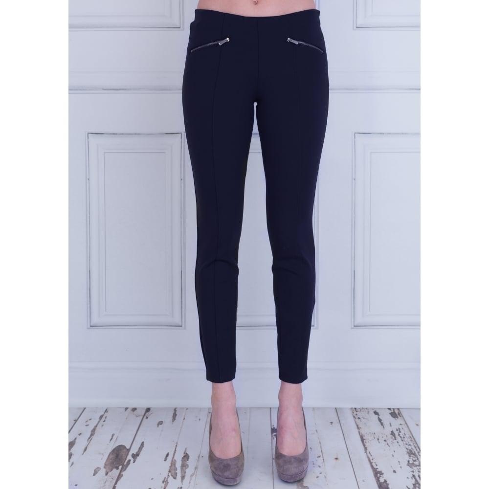 788bc11da836 5286 00 29L Mac Dream Ankle Luxury Trouser In Dark Blue