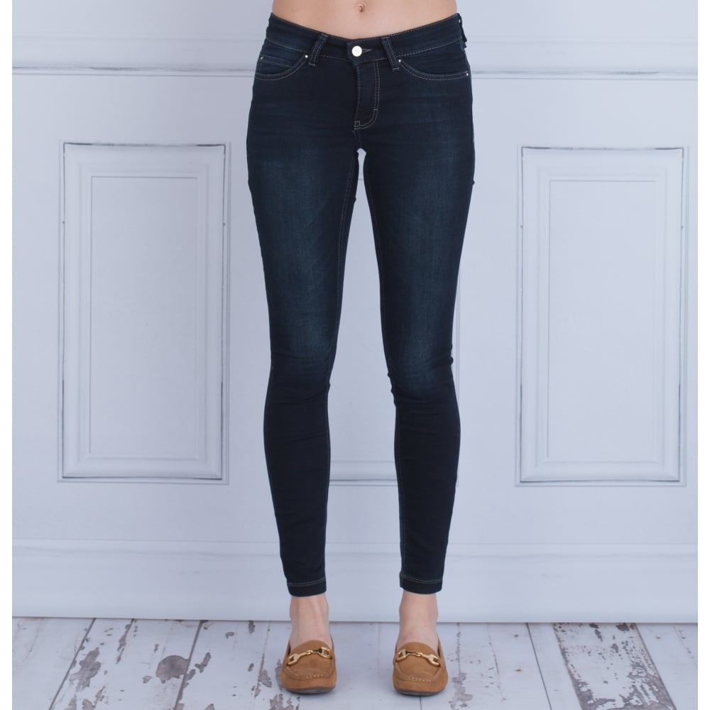 Dream Skinny Authentic Distressed Jean In Blue Black 5457 90 30L