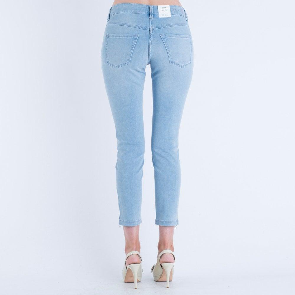 suchen der Verkauf von Schuhen zu Füßen bei Mac Dream Summer Chic 27 Leg With Ankle Zip Light Blue D427