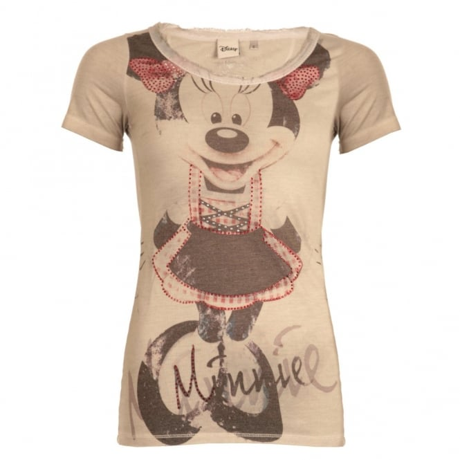 MADE IN HEAVEN Minnie Mouse T-Shirt in Stone