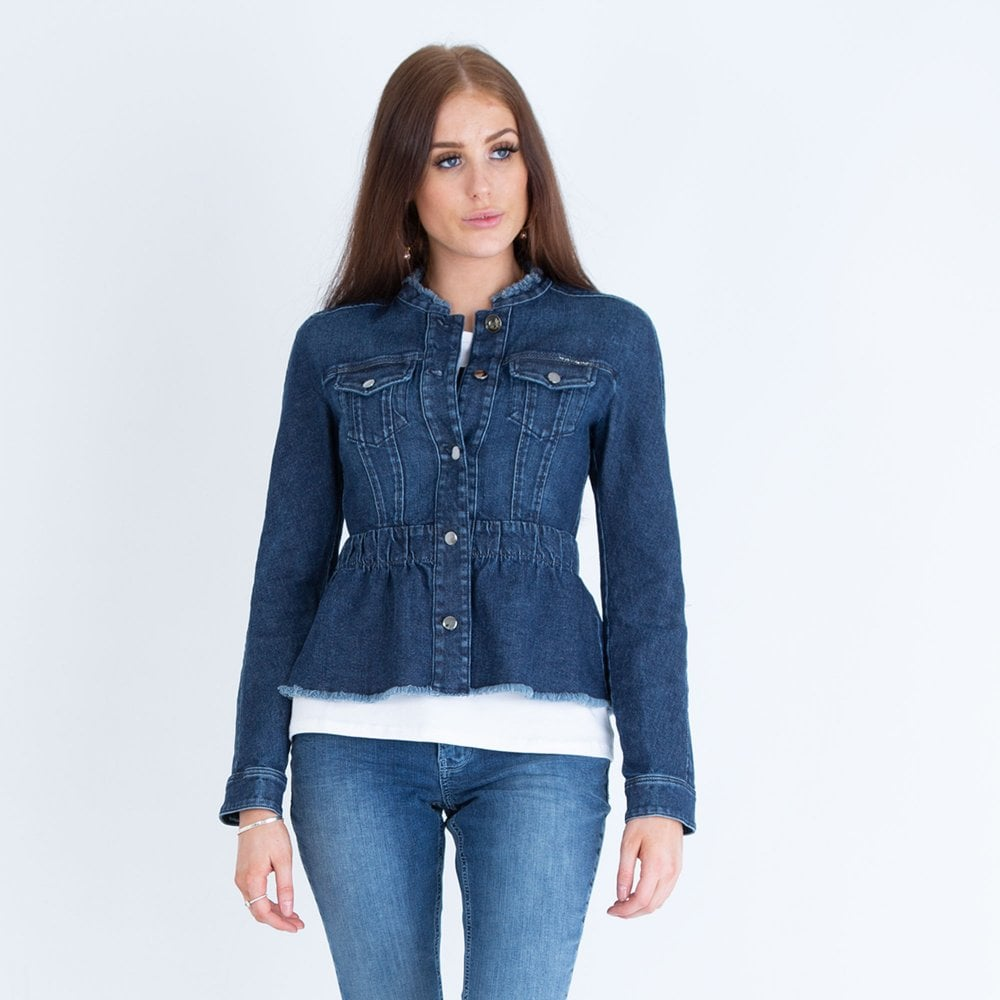 Ant shop start  Marc Cain Peplum Denim Jacket Dark Denim