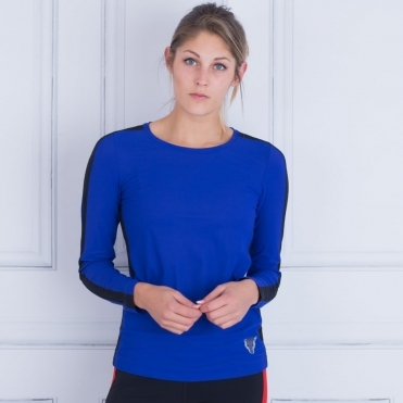Marc Cain Sport Sports T Shirt Round Neck In Cobalt