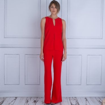 Marc Cain Waterfall Back Jumpsuit Orange